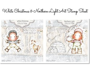 MAGNOLIA -QH-20  White Christmas & Light  Art Stamp Sheet