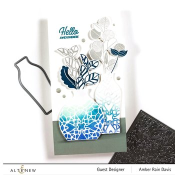 ALTENEW -Retro Plantines Stamp Set