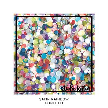 STUDIO KATIA-SATIN RAINBOW CONFETTI