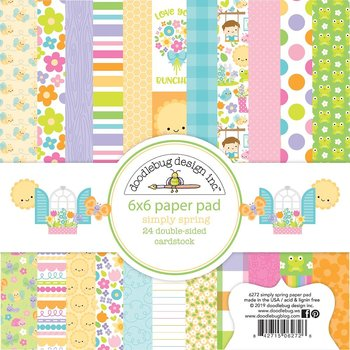 "Doodlebug Double-Sided Paper Pad 6""X6"" 24/Pkg- Simply Spring"