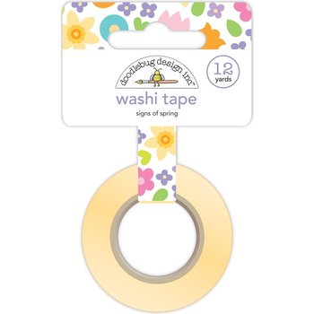 Doodlebug Washi Tape 15mmx12yd-Signs Of Spring