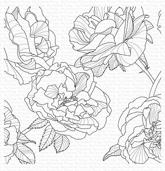 MY FAVORITE THINGS -Fanciful Roses Background
