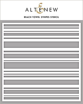ALTENEW -Beach Towel Stripes Stencil