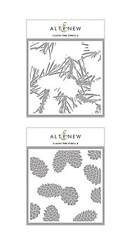 ALTENEW -Classic Pine Stencil Bundle