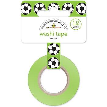 Doodlebug Washi Tape 15mmX12yd-Goal!! Soccer Balls