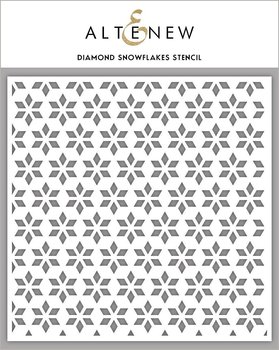 ALTENEW -Diamond Snowflakes Stencil