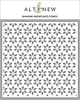 ALTENEW -Diamond Snowflakes Stencil