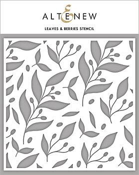 ALTENEW -Leaves & Berries Stencil