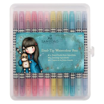 SANTORO GORJUSS -Watercolour Dual-tip Pens (12pk)