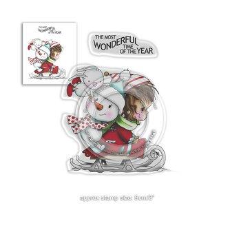 Polkadoodles -Winnie Wonderful Time Clear Stamps