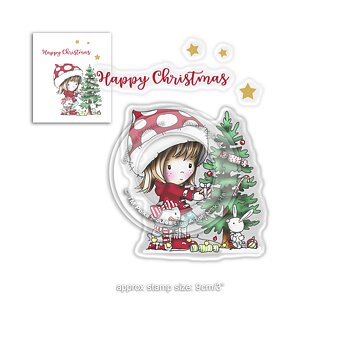 Polkadoodles -Christmas Tree Winnie Winter Wishes