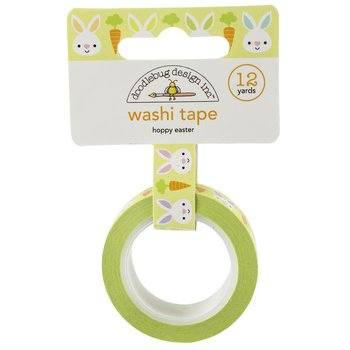 Doodlebug Washi Tape 15mmx12yd-Hoppy Easter