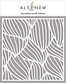 ALTENEW -Feathered Leaves Stencil