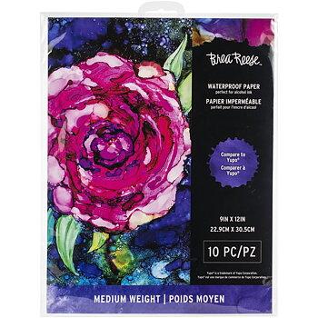 """Brea Reese Waterproof Paper 9""""X12"""" 10/Pkg"""