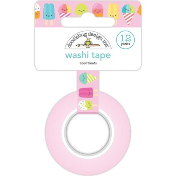 Doodlebug Washi Tape 15mmx12yd-Cool Treats