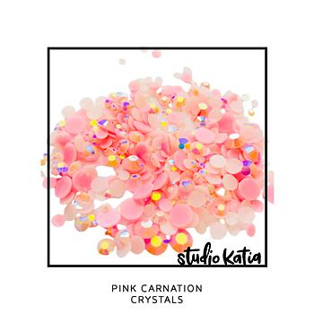 STUDIO KATIA-PINK CARNATION CRYSTALS