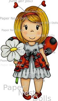 PAPER NEST DOLLS-Ladybug Lulu