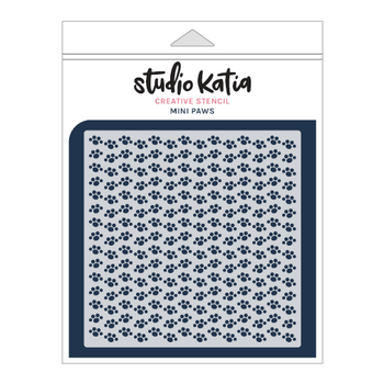 STUDIO KATIA-MINI PAWS STENCIL