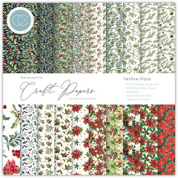 CRAFT CONSORTIUM-Essential Craft Papers 6x6 Inch Paper Pad Festive Flora