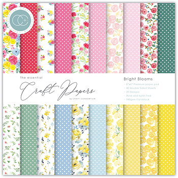 CRAFT CONSORTIUM-Essential Craft Papers 6x6 Inch Paper Pad Bright Blooms