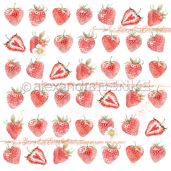 ALEXANDRA RENKE -Design paper 'Strawberries'
