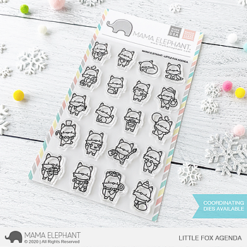 MAMA ELEPHANT-LITTLE FOX AGENDA STAMP & DIE SET