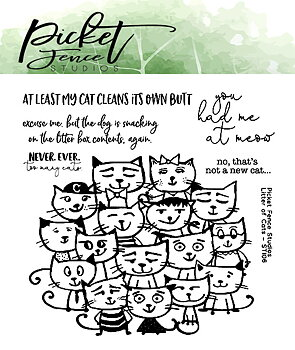 PICKET FENCE STUDIOS -Litter of Cats Clear Stamps