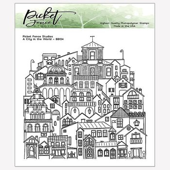 PICKET FENCE STUDIOS -A City in the World Clear Stamps