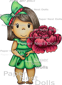 PAPER NEST DOLLS-Lulu with Peony