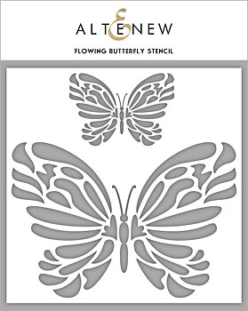 ALTENEW -Flowing Butterfly Stencil