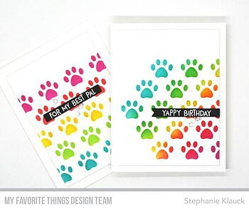 MY FAVORITE THINGS -Staggered Paw Prints Stencil