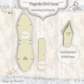 MAGNOLIA -MD-19 Magnolia Bird House DooHickey Cutting Die
