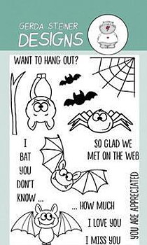 GERDA STEINERDESIGNS-Bats  Clear Stamp & Die  Set