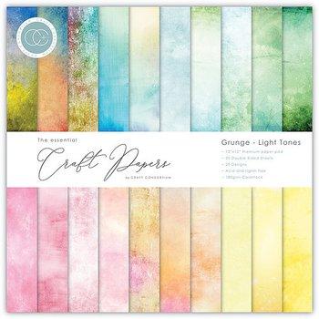 CRAFT CONSORTIUM- Essential Craft Papers 6X6 Inch Paper Pad Grunge Light Tones  40ST/FP