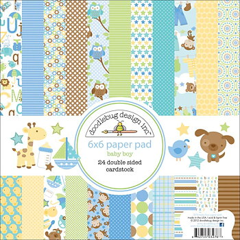 "Doodlebug Double-Sided Paper Pad 6""X6"" 24/Pkg-Snips and Snails"