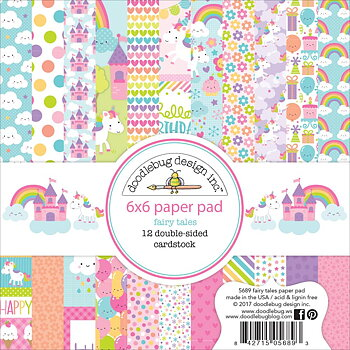 "Doodlebug Double-Sided Paper Pad 6""X6"" -Fairy Tales"