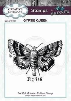CREATIVE EXPRESSIONS Rubber Stamp by Andy Skinner Gypsie Queen