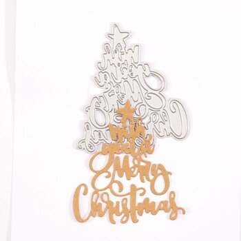 "VAESSEN CREATIVE- • Cutting Die ""Wish you a Merry Christmas"""