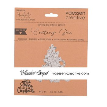"VAESSEN CREATIVE • Cutting Die ""Wish you a Merry Christmas"""