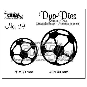 Crealies • Duo Dies no.20 soccer balls