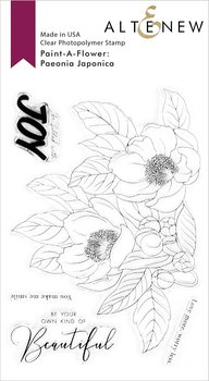 ALTENEW -Paint-A-Flower: Paeonia Japonica Outline Stamp Set