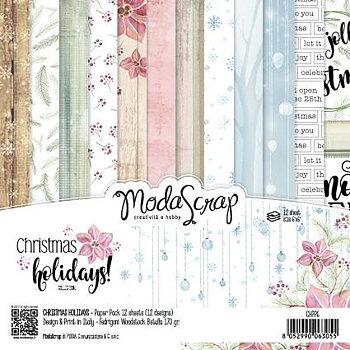 """MODASCRAP - PAPER PACK CHRISTMAS HOLIDAYS 6X6"""""""