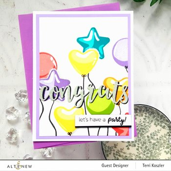 ALTENEW -Balloon Bunch Stamp Set