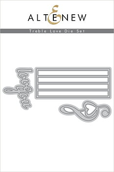 ALTENEW-Treble Love Die Set