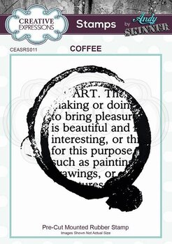 CREATIVE EXPRESSIONS Rubber Stamp by Andy Skinner Coffee Art