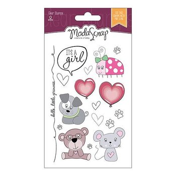 MODASCRAP CLEAR STAMPS   -COLOR OF PUPPIES GIRL