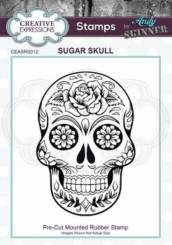 CREATIVE EXPRESSIONS Rubber Stamp by Andy Skinner Sugar Skull