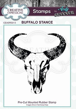 CREATIVE EXPRESSIONS Rubber Stamp by Andy Skinner Buffalo Stance