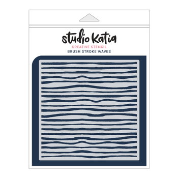 STUDIO KATIA-BRUSH STROKE WAVES STENCIL
