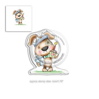 Polkadoodles -Fuzzypuff- Scruff the dog Cupcake